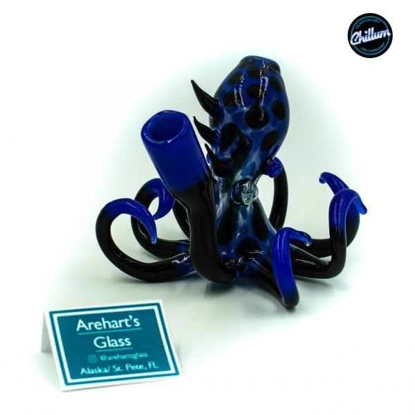Arehart's Glass Black and Blue Octopus Rig