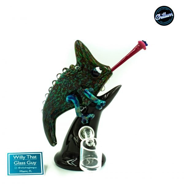 Willy That Glass Guy Chameleon Rig W/ Glass Tongue Dabber